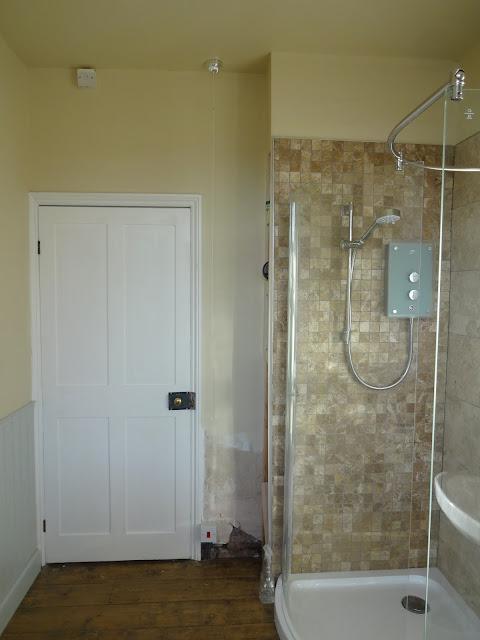 Victorian Door in Bathroom