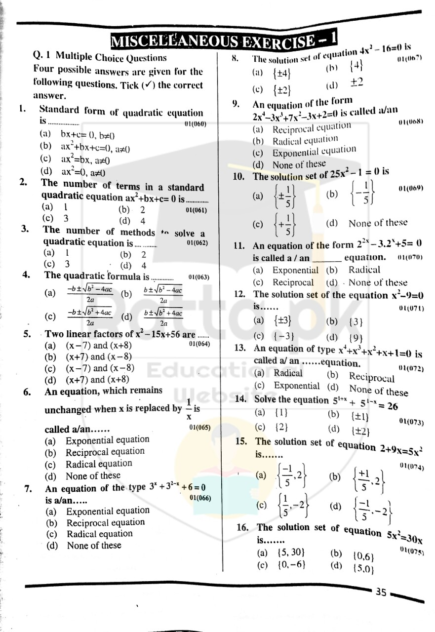 10th Maths Misc. Exercise 1 Solved Obectives 4