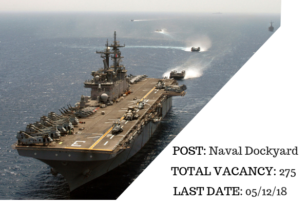 Naval Dockyard Visakhapatnam Recruitment 2018