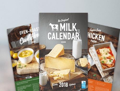 Free Milk 2018 Calendar