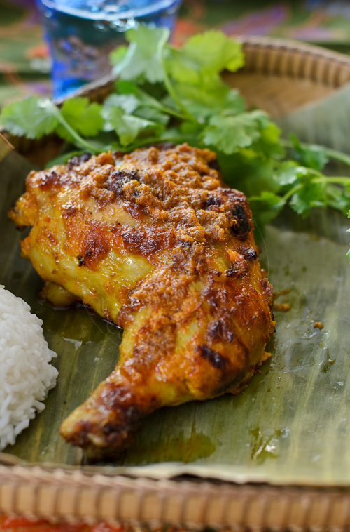 Moist and spicy Malaysian Flame Grilled Chicken