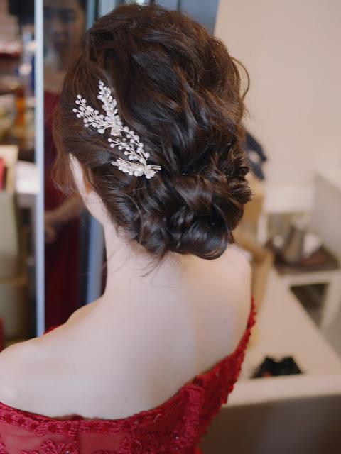 台北新秘 | 新秘Summer |台北新娘秘書| 文定造型 | 訂婚髮型 | 細軟髮髮型 | 新娘精緻妝感 | 新娘光澤感底妝