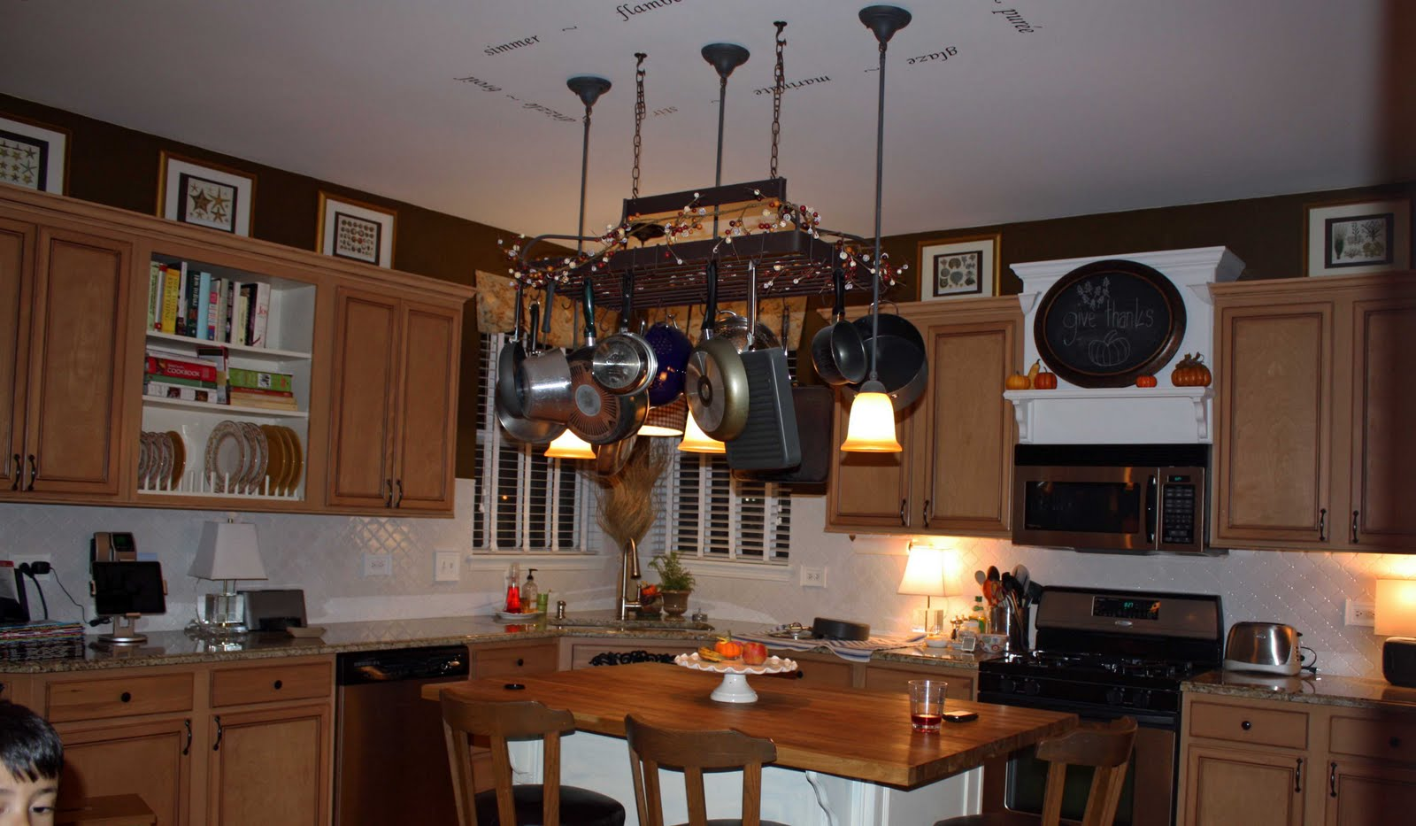 Transforming Home.: Above the kitchen cabinets