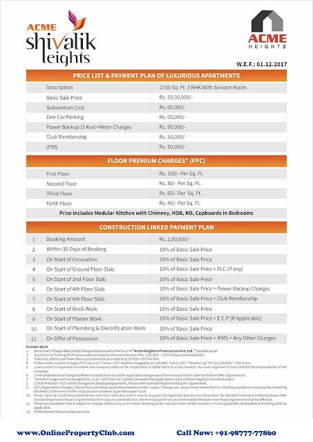 Acme Shivalik Heights Sector 127 Mohali