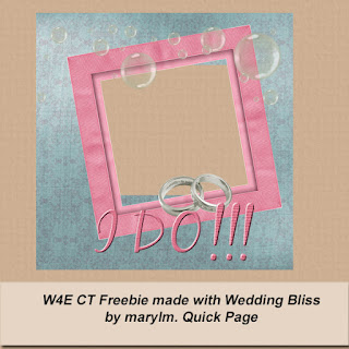 CT Freebie Created with Wedding Bliss Kit Created by ApriltheScrapaholic