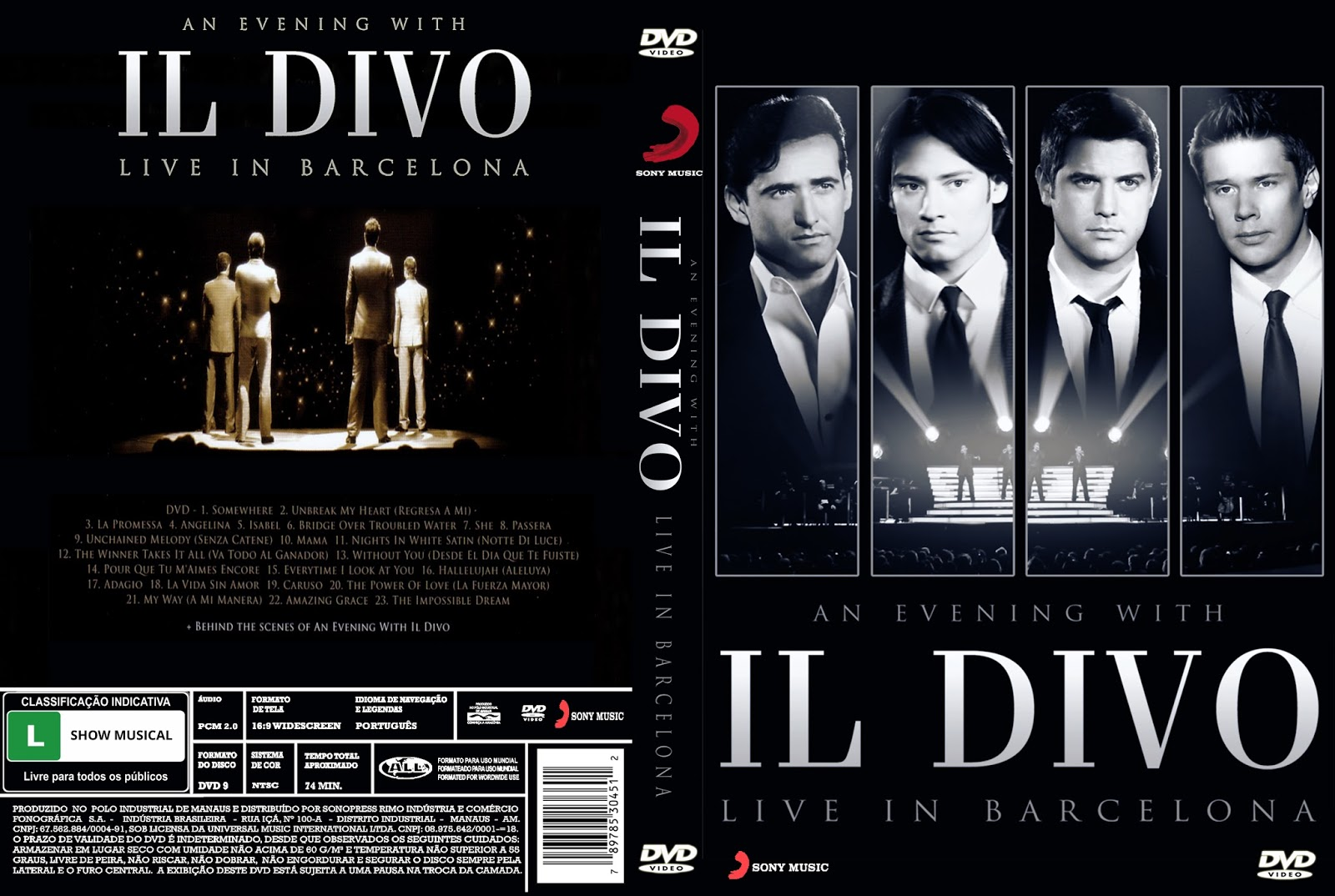 An evening with il divo live in barcelona gigante das - An evening with il divo ...