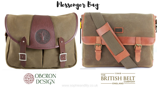 Messenger bag by Oberon Design and by the British Belt Company England