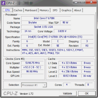 Prosesor Quad-Core Intel Core i7-6700K 4.0 GHz