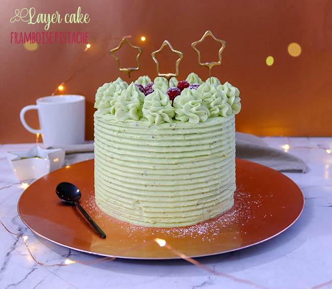 layer cake framboise pistache