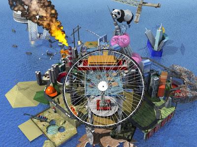 Анимация видео в Second Life художницы Цао