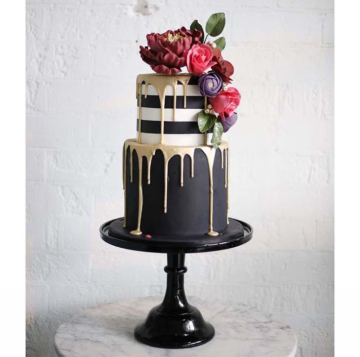 Dreamy Chocolate Tiered Cake