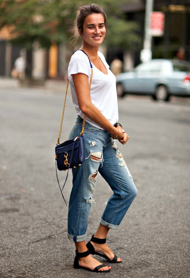 Como usar jeans boyfriend no verão