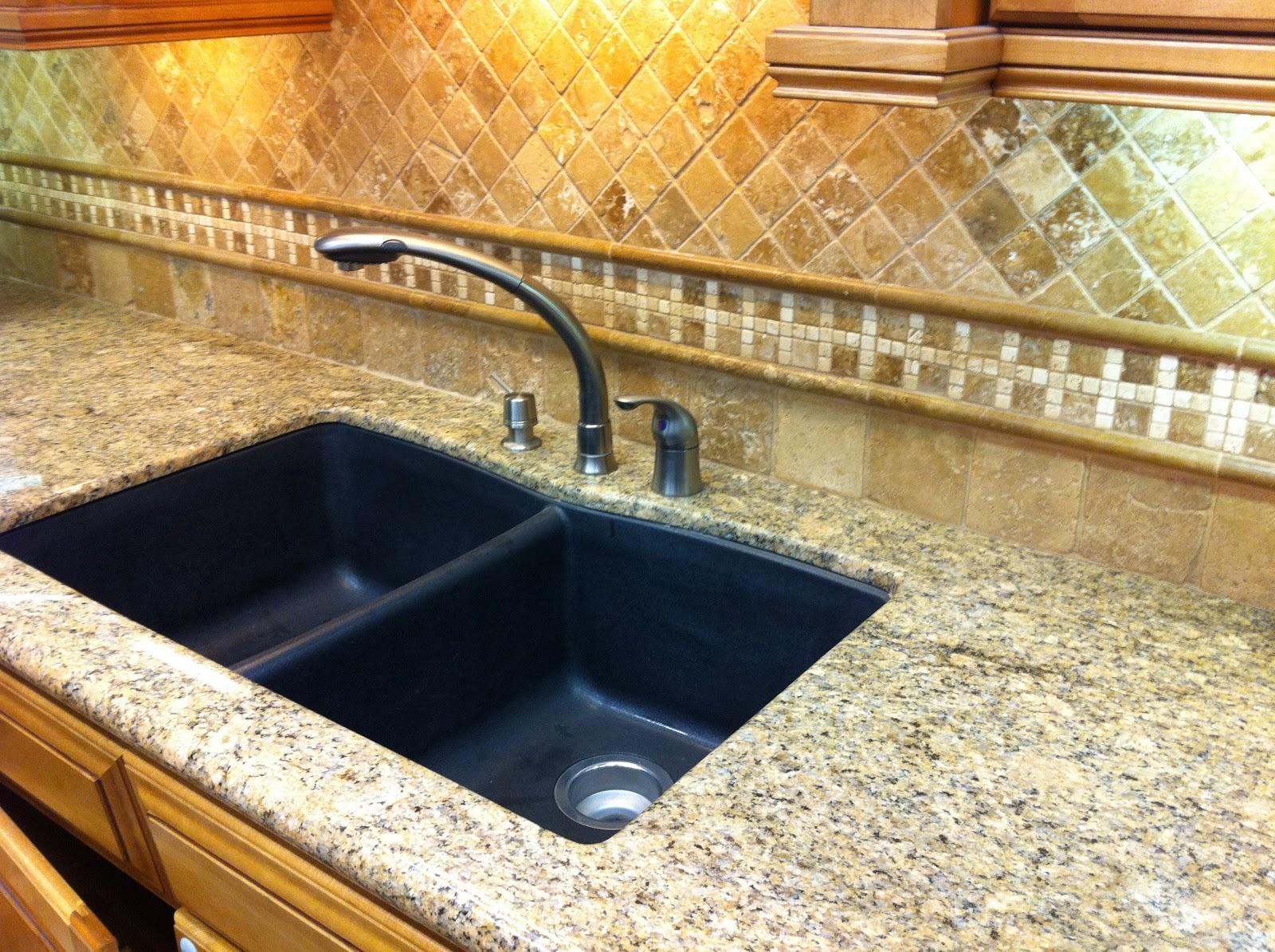 custom granite countertops and tile kitchen counters and backsplash Granite Kitchen Countertop and Tile Backsplash in Pismo Beach California
