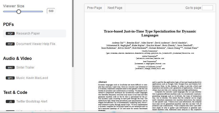 Jquery pdf doc plugin firefox