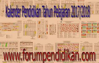 Kalender Pendidikan Tahun Pelajaran 2017/2018