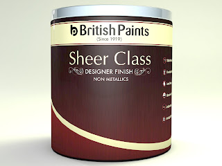 "British Paints brings to you their latest product offering – ""Sheer Class Designer Finish Range"""