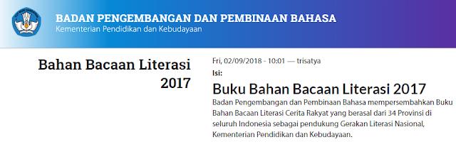 Bahan Bacaan Literasi Badan Bahasa Kemendikbud 2017