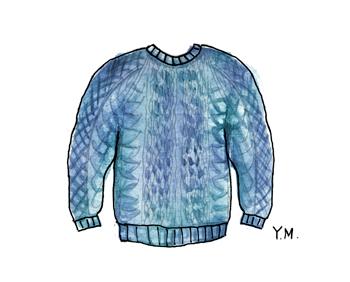 sweater by Yukié Matsushita