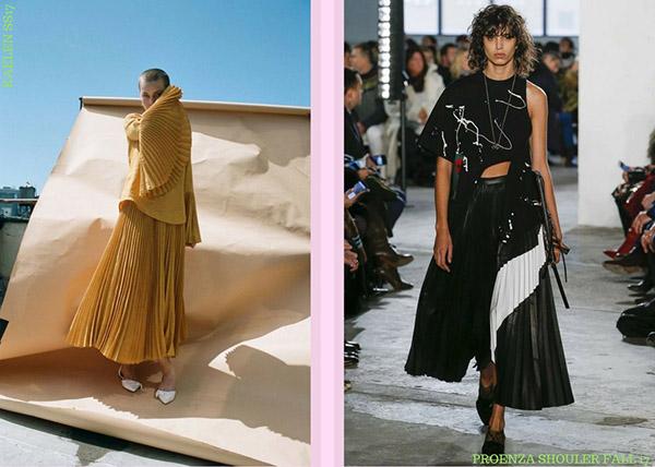 fashion trend plissé pleated skirt gonna