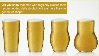 Alcohol Causes Men To Gain Weight