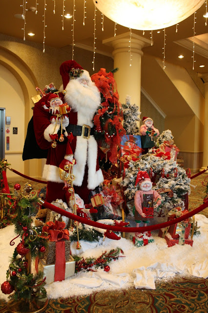 Merry Santa display at French Lick Springs Hotel in French Lick, Indiana
