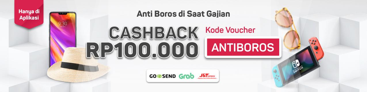 Bukalapak - Promo Voucher ANTIBOROS Cashback s.d 100 Ribu (s.d 3 Sept 2018)