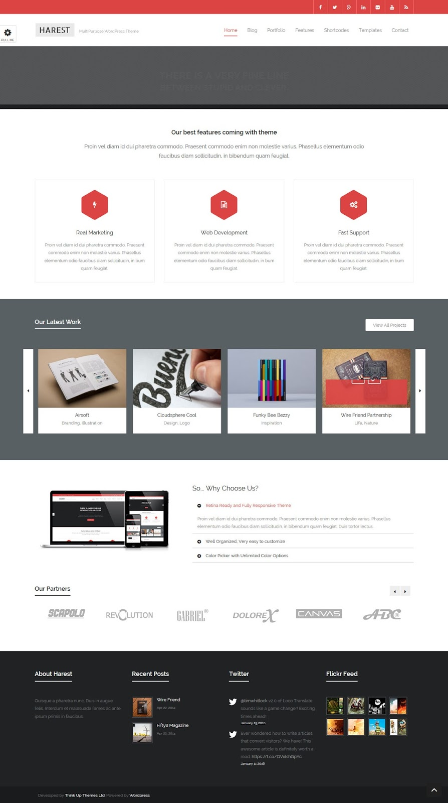 قالب Harest - Responsive Multi-Purpose Theme مجانا للوردبريس