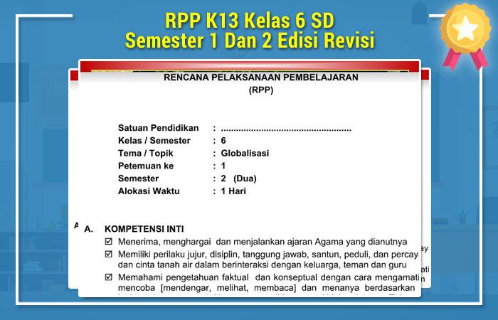 RPP K13 Kelas 6