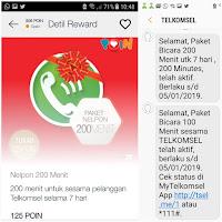Proses penukaran telkomsel poin dengan paket bicara