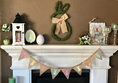 Easter mantel and decor