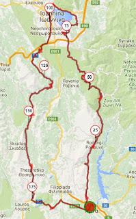 Epirus Brevet 2016 Map
