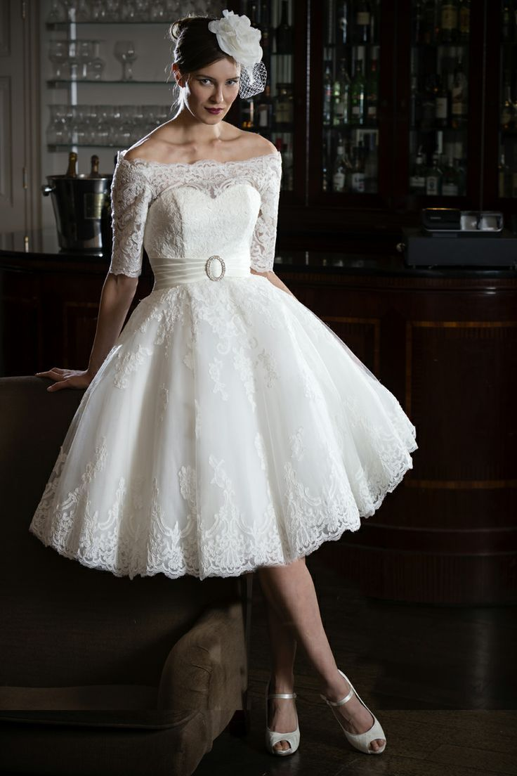 Simple Short Wedding Dresses With Lace Braided In The Front
