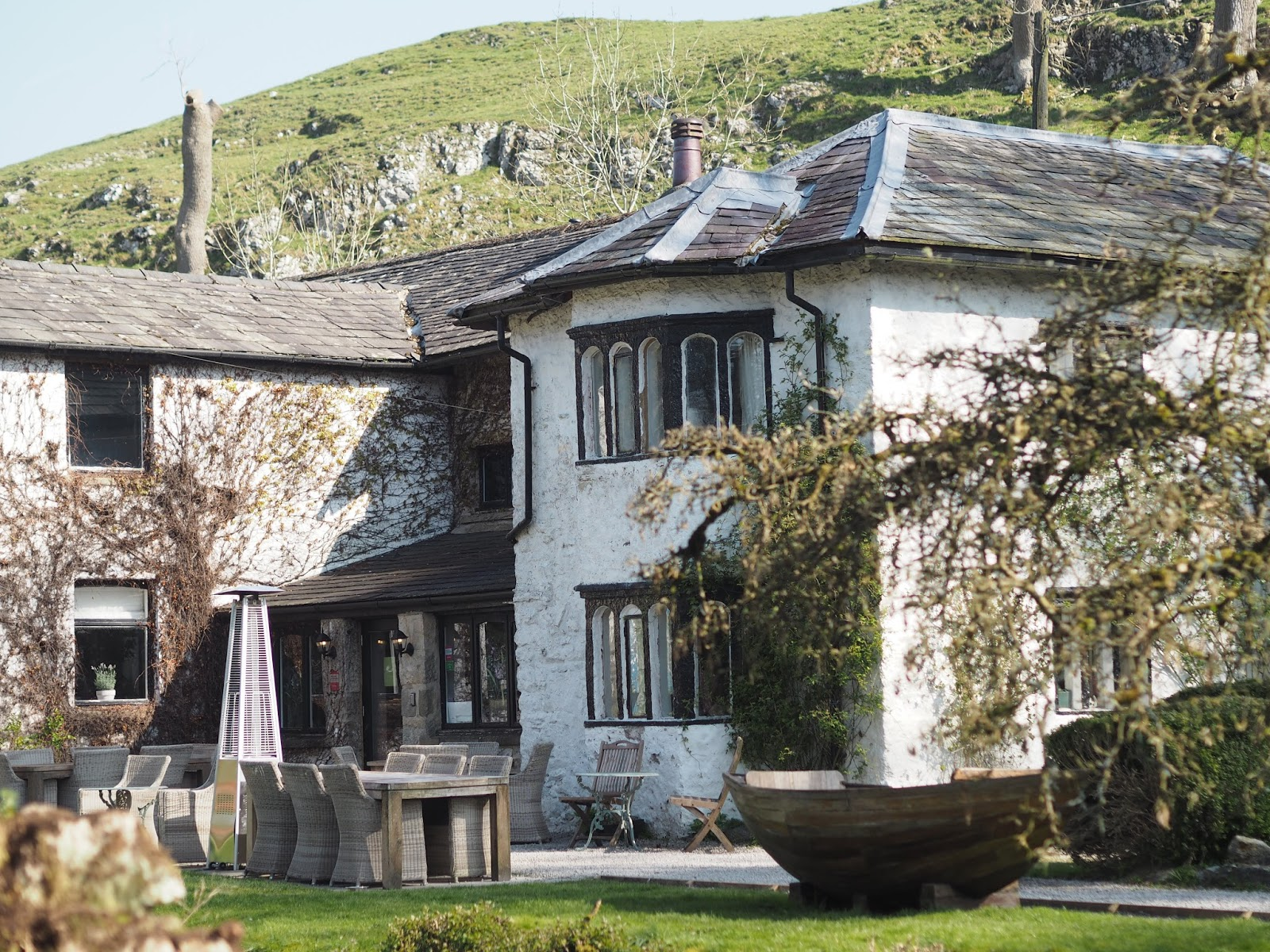 A review of Beck Hall Hotel and Bistro, Malham, Yorkshire Dales. External view of the Beck Hall.