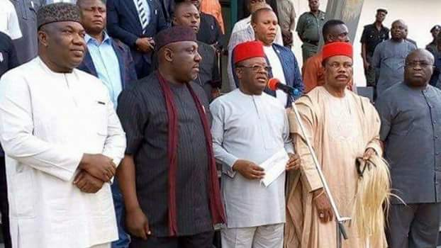 COMMUNIQUE ARISING FROM THE MEETING OF SOUTH EAST GOVERNORS,  OHANAEZE NDIGBO AND SELECTED IGBO LEADERS OF THOUGHT ON THE STATE OF THE NATION, HELD AT NIKE LAKE RESORT,  ENUGU,  ON SATURDAY, 1ST JULY 2017 AS PRESENTED BY DAVE UMAHI