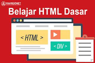 Belajar HTML Dari Dasar
