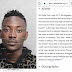 Dammy krane's profile updated after is arrest of theft