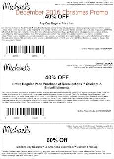 free Michaels coupons for december 2016