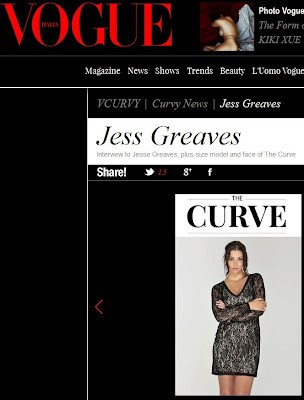 VOGUE Italia feature The Curve model Jess Greaves