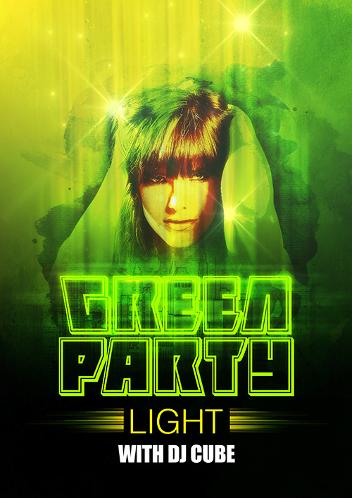 Easy Photoshop Tutorial Make Green Party Poster Design