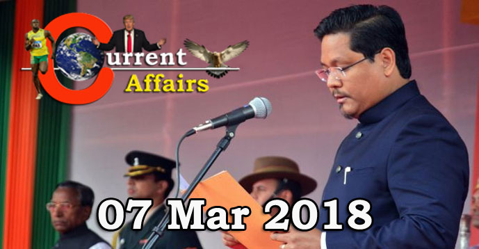 Kerala PSC - Daily Current Affairs 07/03/2018