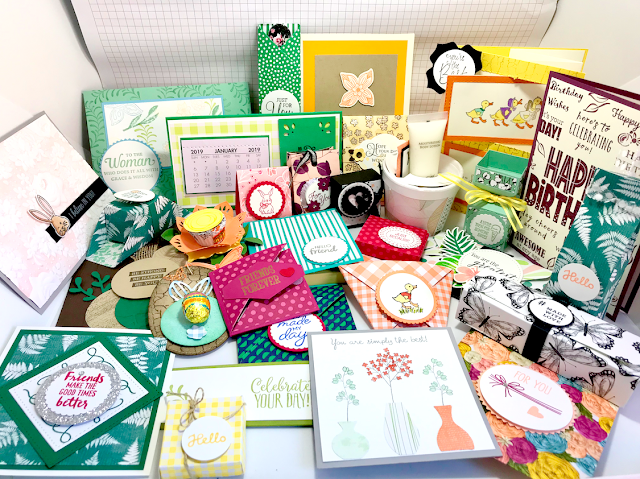 On Stage 2019 Swaps Stampin' Up! Nigezza Creates