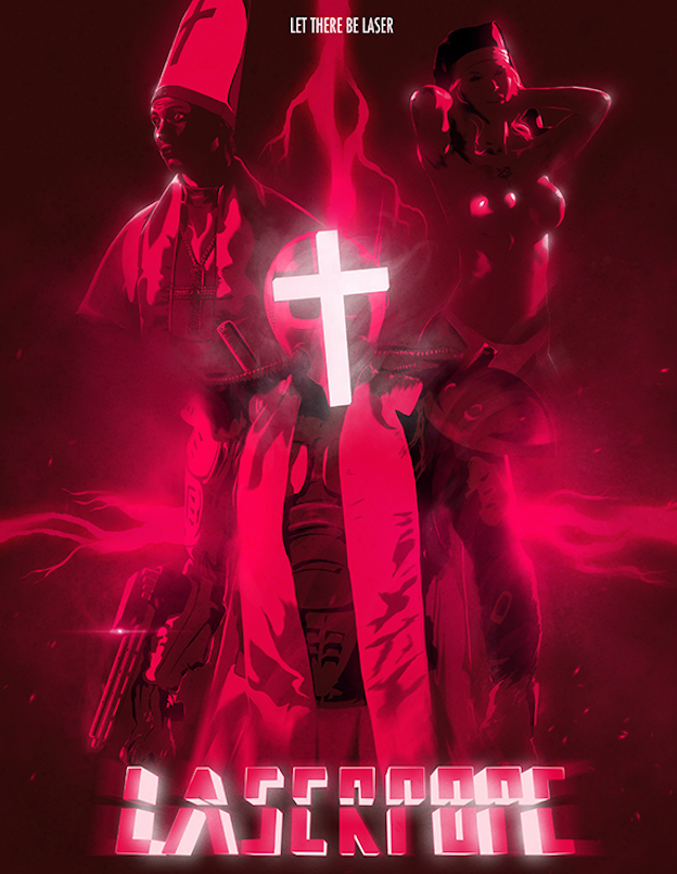 laserpope poster