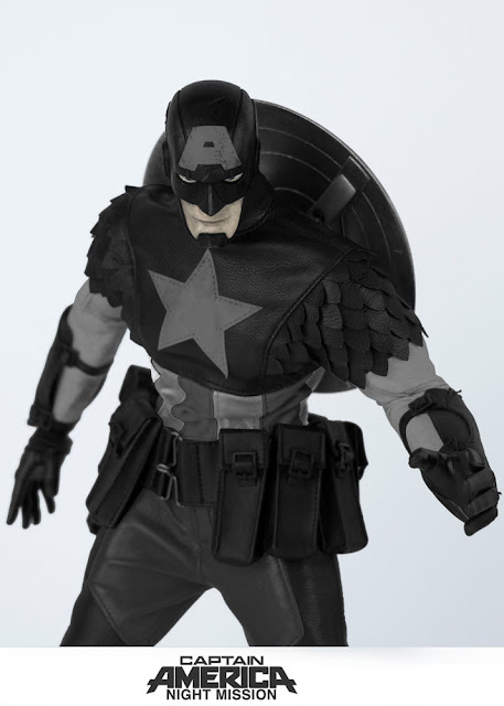 """osw.zone Preorder ThreeA 1/6 scale night mission Captain America 12.7 """"collectible figure designed by Ashley Wood"""