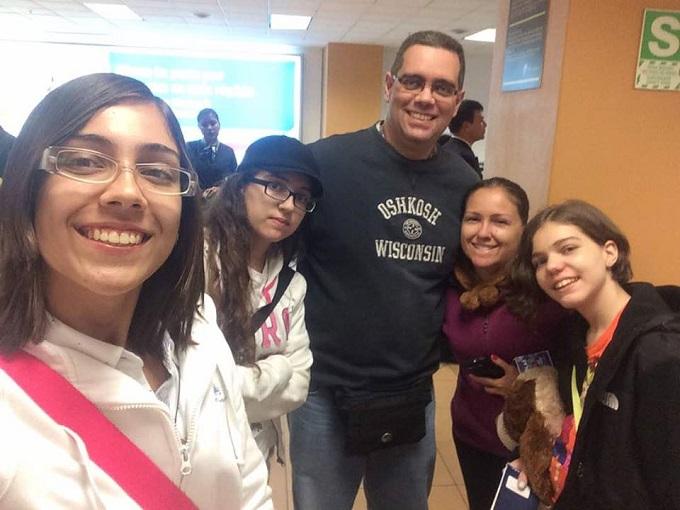 José Miguel Arráiz y familia