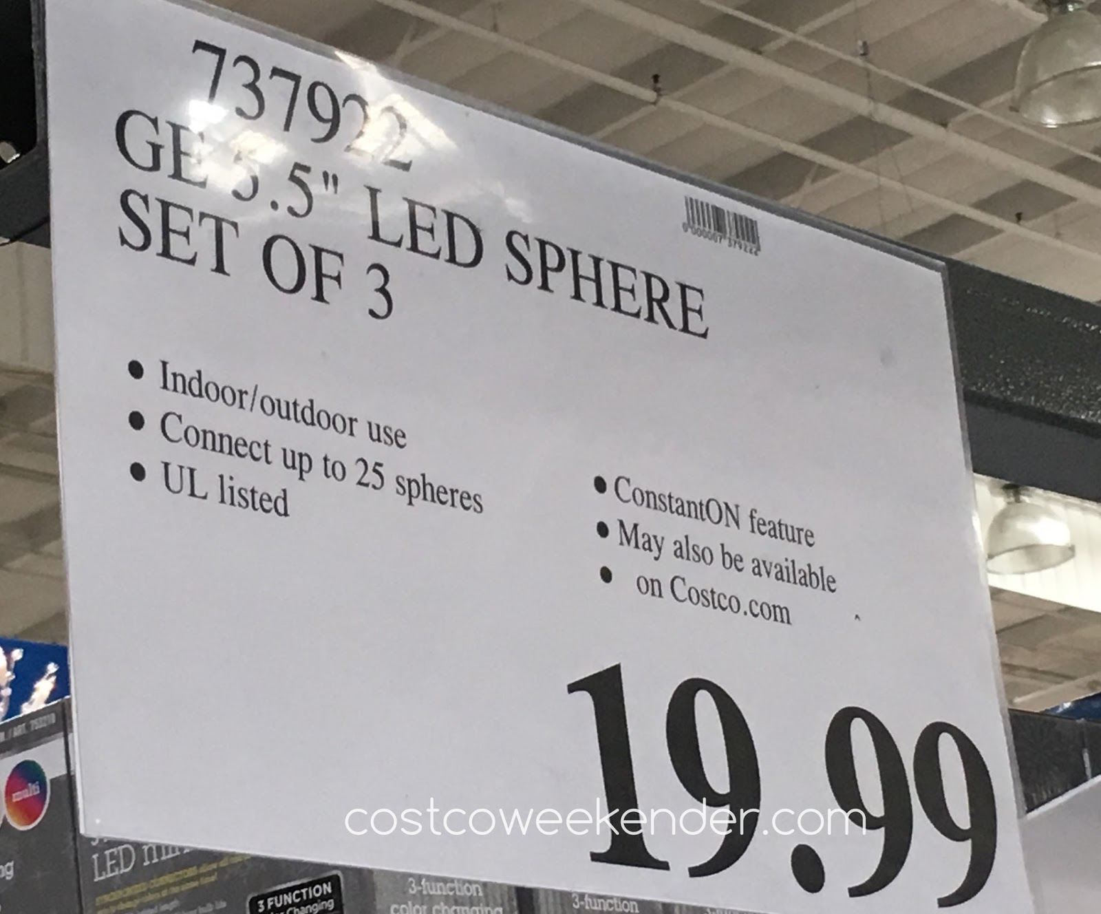 Costco 737922 - Deal for a set of 3 GE LED Spheres at Costco