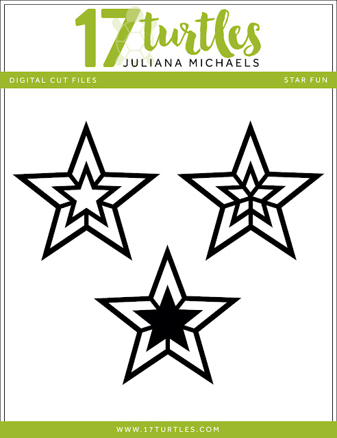 Star Fun Free Digital Cut File by Juliana Michaels 17turtles.com