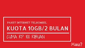 Paket Internet Explore Combo Telkomsel (10GB/60 Hari) Hanya 100 ribu, Mau?