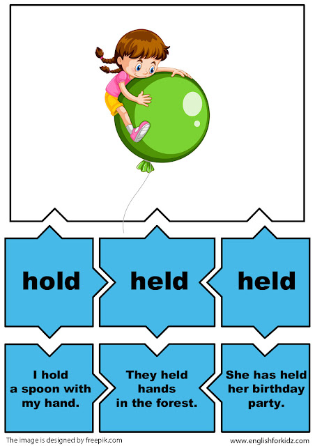 esl grammar activity irregular verb hold