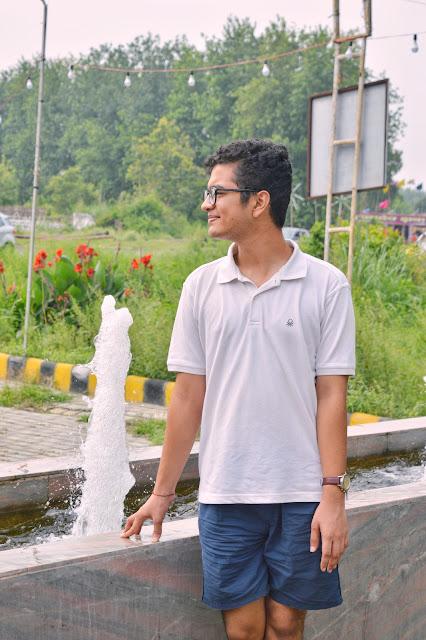 Shiv Sangal, roorkee, masala country, farm, greenery, benetton, nike shorts, timex watch, flowers, fountain