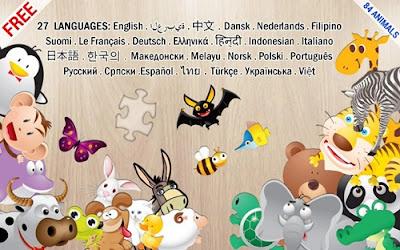 aplikasi animals puzzle for kids
